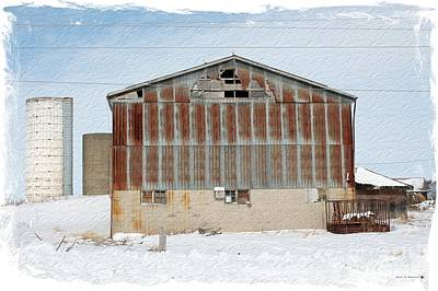 Old Barn Drawing Photograph - Rusting Farm Tin by Anthony Djordjevic