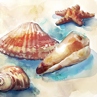Rust Painting - Rustshells by Mauro DeVereaux