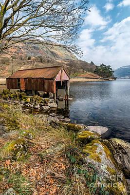 Abandoned Digital Art - Rusty Boathouse by Adrian Evans