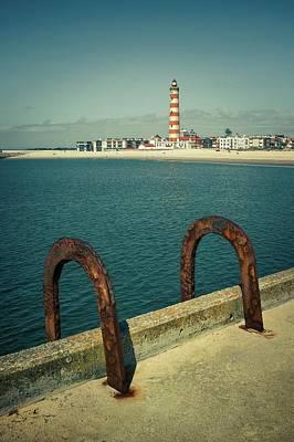 Ocean Photograph - Rusty Handrails by Carlos Caetano