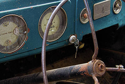 Rusty Plymouth Dashboard Print by Nick Gray