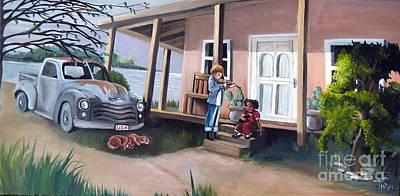 Rusty Truck Original by Toni  Thorne