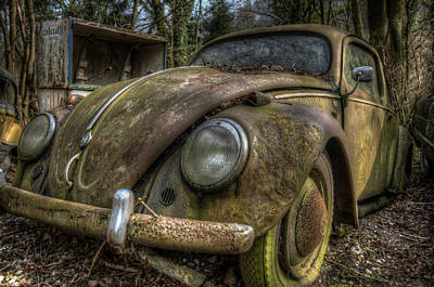 Rusty Vee Dub  Print by Nathan Wright