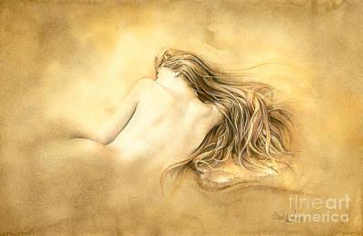Ruw Umber Nude Original by David Evans