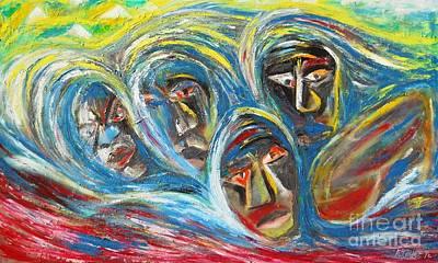 Refugee Artist Painting - Rwandan Escape by Arnold Grace