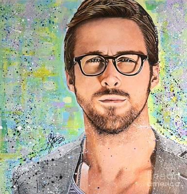 Ryan Gosling Print by Aki Nakahira