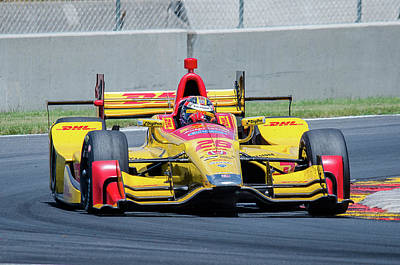 Ryan Hunter-reay Print by Steven Banker