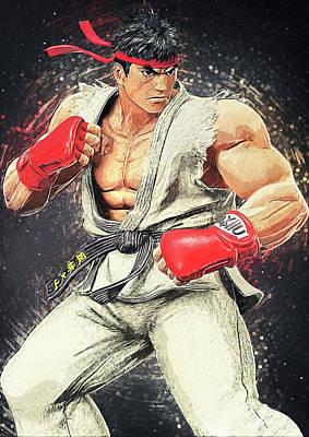 Ryu - Street Fighter Print by Taylan Apukovska