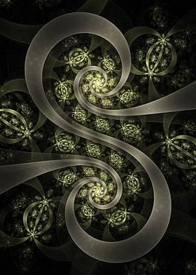 Organic Digital Art - S Curve by David April