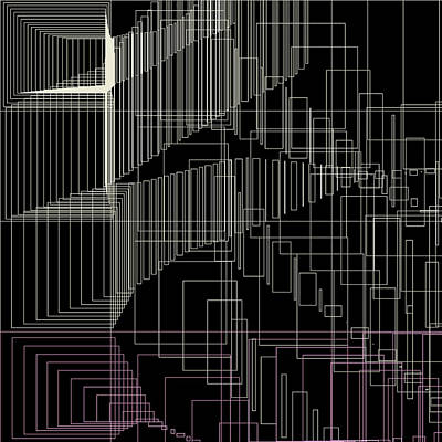 Rectangles Digital Art - S.4.18 by Gareth Lewis