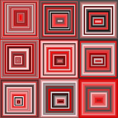 Rectangles Digital Art - S.5.9 by Gareth Lewis