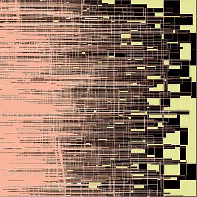 Monochrome Digital Art - S.7.44 by Gareth Lewis