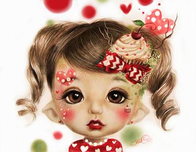 Eyes Mixed Media - Sabrina - Elf  by Sheena Pike