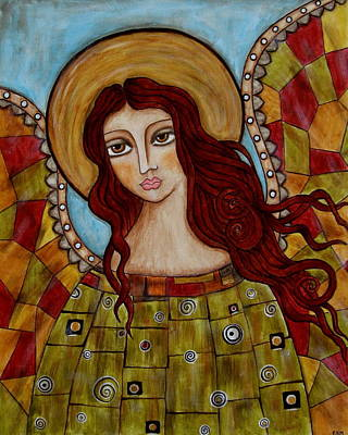 Christian Art . Devotional Art Painting - Sachael by Rain Ririn