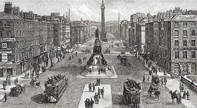 Capital Cities Drawing - Sackville Street  Now O Connell Street by Vintage Design Pics