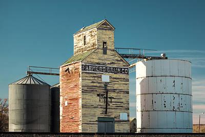 Granary Photograph - Saco Grain Elevator by Todd Klassy