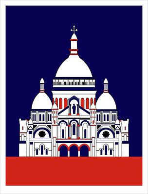Digital Art - Sacra Coeur Montmartre by Asbjorn Lonvig