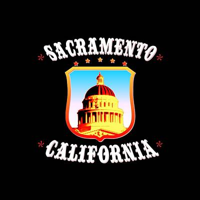 Buy Tshirts Tapestry - Textile - Sacramento California - Tshirt Design by Art America Online Gallery