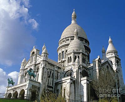 Sacre Coeur Photograph - Sacre Coeur Basilica In Montmartre by Gerard Lacz