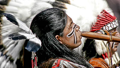 Pow Wow Photograph - Sacred Flute by Donovan Torres