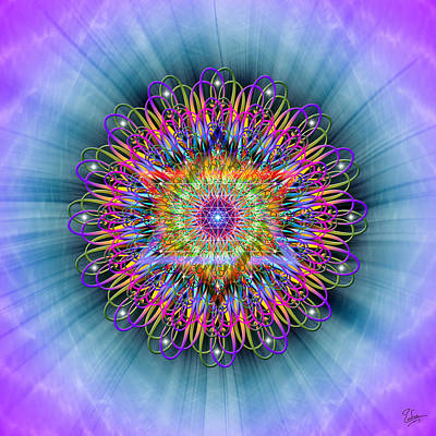 Merkaba Digital Art - Sacred Geometry 389 by Endre Balogh
