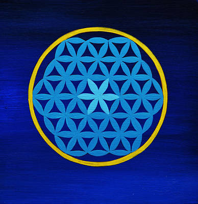 Sri Yantra Painting - Sacred Geometry by Stephen Humphries