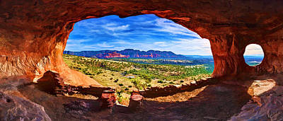 Manipulation Photograph - Sacred Ground - Shaman's Cave by Bill Caldwell -        ABeautifulSky Photography