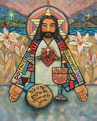 Sacred Heart Of Jesus Original by Jen Norton