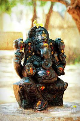 Sacred Indian Ganesha Print by Tim Gainey