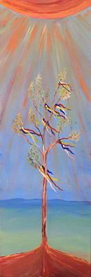 Sundance Painting - Sacred Sun Dance Tree by Kate Purdy