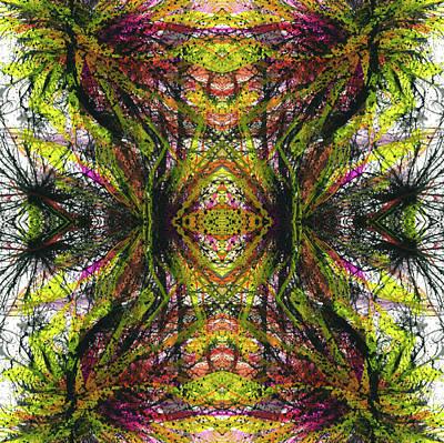 Sacredness Of Interconnectedness #1512 Print by Rainbow Artist Orlando L aka Kevin Orlando Lau