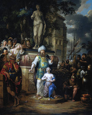 Painting - Sacrifice Of Iphigenia by Arnold Houbraken