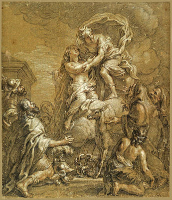 Drawing - Sacrifice Of Iphigenia by Charles De La Fosse