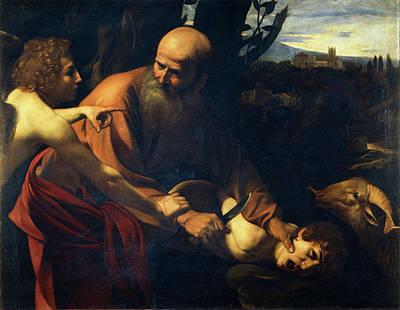 Caravaggio Painting - Sacrifice Of Isaac by Caravaggio