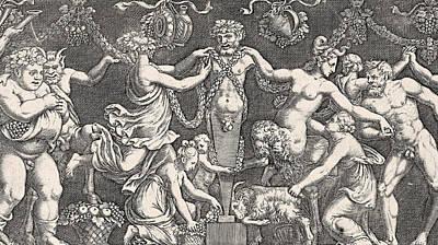 Sacrifice To Priapus Print by Giulio Romano