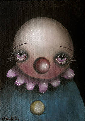 Sad Clown Print by  Abril Andrade Griffith