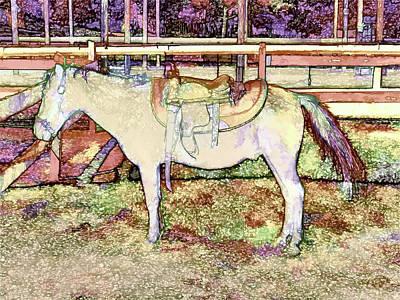 Scoop Painting - Saddle On Horseback 1 by Lanjee Chee