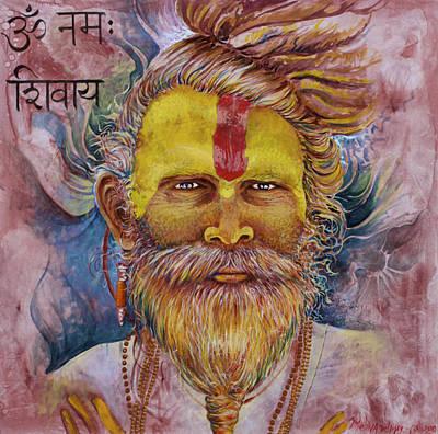 Baba Painting - Sadhu by Melina Del Mar
