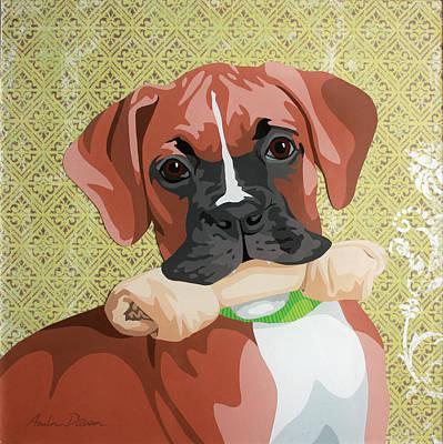Rawhide Painting - Sadie by Amber Dawn