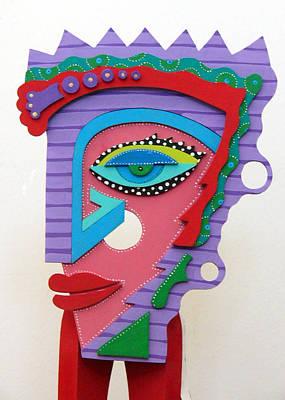 Skull Cards Mixed Media - Sadie by Keri Joy Colestock