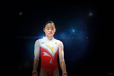 Gymnasts Digital Art - Sae Miyakawa ,japan,gymnast,  by Jean Francois Gil