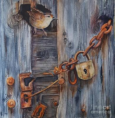 Barn Wood Painting - Safe Haven by Patricia Pushaw