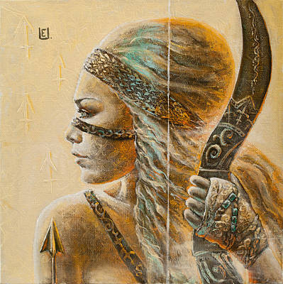 Fairy Painting - Saggitarius by Eurika Urbonaviciute