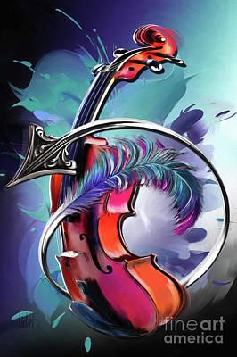 Violin Mixed Media - Sagittarius by Melanie D