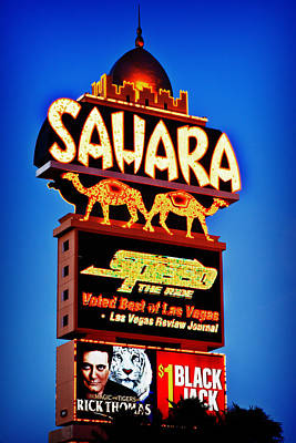 Sahara Sign Print by James Marvin Phelps