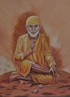 Shirdisaibaba Painting - Sai Baba Of Shirdi Painting by Anju Rastogi