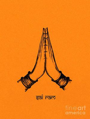 India Babas Digital Art - Sai Ram by Tim Gainey