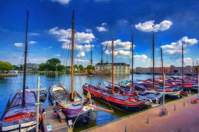 Sail Amsterdam Print by Nadia Sanowar