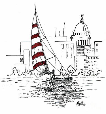 Capitol Building Drawing - Sail Away by Marilyn Smith