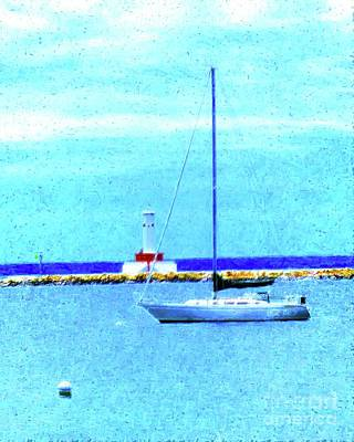 Sailboat At Rest Print by Desiree Paquette